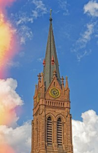 Glorious Spire proclaims the glory of Christ.