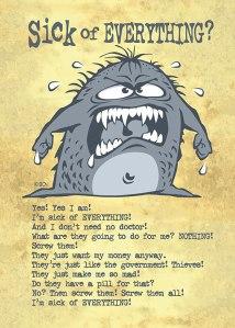 Sick Monster Card