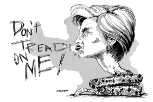 Hillary Snake Caricature