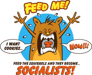 Socialist-Squirrel-T-Shirt