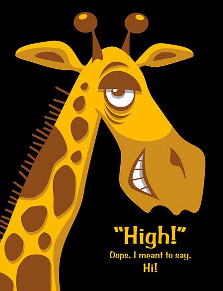 Giraffe-Postcard