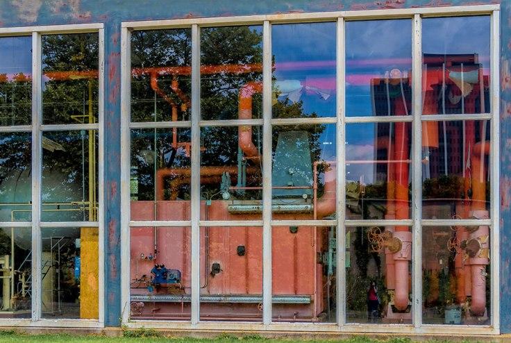Futuristic Window Reflection 1