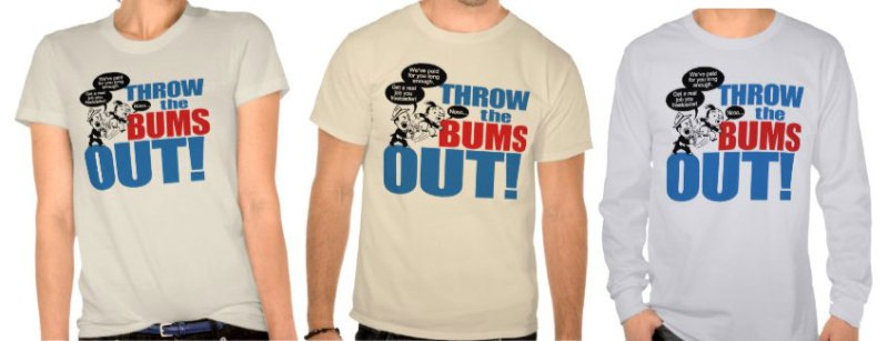 throw_the_bums_out_tshirts