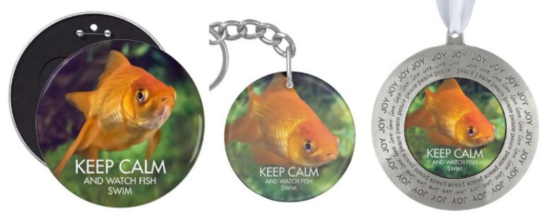 Keep-Calm-Fish-Ornaments